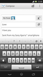 Sony C6603 Xperia Z - Email - Sending an email message - Step 10