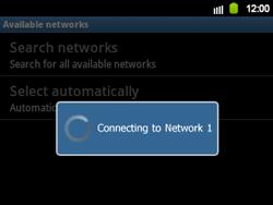 Samsung B5510 Galaxy TXT - Network - Usage across the border - Step 9