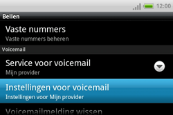 HTC A810e ChaCha - Voicemail - handmatig instellen - Stap 5