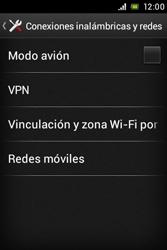 Sony Xperia E - Mensajería - Configurar el equipo para mensajes multimedia - Paso 5
