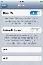 Apple iPhone iOS 5 - Rede móvel - Como ativar e desativar uma rede de dados - Etapa 6