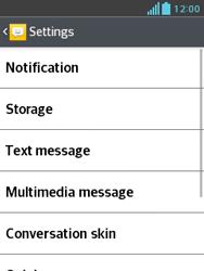 LG E430 Optimus L3 II - SMS - Manual configuration - Step 6