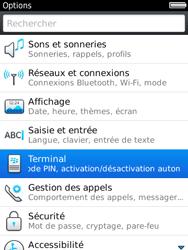 BlackBerry 9800 Torch - Paramètres - Reçus par SMS - Étape 4