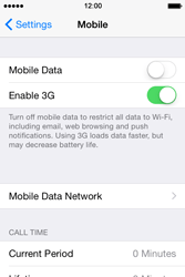 Apple iPhone 4s iOS 8 - Internet - Enable or disable - Step 5