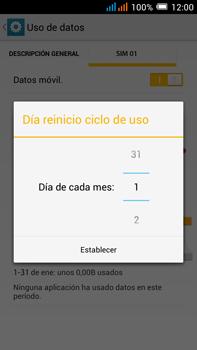Alcatel Pop C9 - Internet - Ver uso de datos - Paso 8