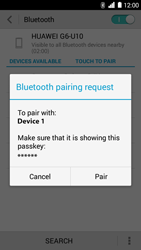 Huawei Ascend G6 - Bluetooth - Pair with another device - Step 7