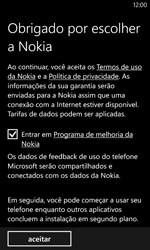 Nokia Lumia 1020 - Primeiros passos - Como ativar seu aparelho - Etapa 9