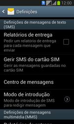Samsung Galaxy Fresh Duos - SMS - Como configurar o centro de mensagens -  8