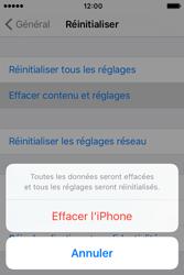Apple iPhone 4 S iOS 9 - Device maintenance - Retour aux réglages usine - Étape 7