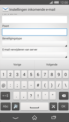 Sony Xperia Z2 4G (D6503) - E-mail - Handmatig instellen - Stap 11