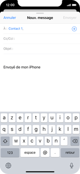 Apple iPhone X - E-mail - envoyer un e-mail - Étape 5