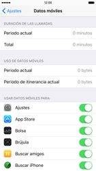 Apple iPhone 6s iOS 9 - Internet - Ver uso de datos - Paso 4