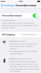 Apple iPhone 5s met iOS 10 (Model A1457) - WiFi - Mobiele hotspot instellen - Stap 8