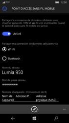 Microsoft Lumia 950 - Internet et connexion - Partager votre connexion en Wi-Fi - Étape 9
