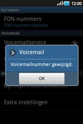 Samsung S5660 Galaxy Gio - Voicemail - handmatig instellen - Stap 7