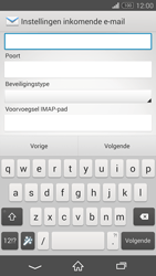 Sony D6603 Xperia Z3 - E-mail - e-mail instellen: IMAP (aanbevolen) - Stap 9
