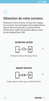 Samsung Galaxy S8 - Premiers pas - Configuration de l
