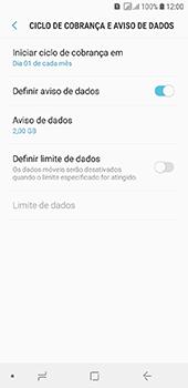Samsung Galaxy J6 - Rede móvel - Como definir um aviso e limite de uso de dados - Etapa 7
