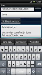 Sony Ericsson Xperia Neo V - E-mail - e-mail versturen - Stap 8
