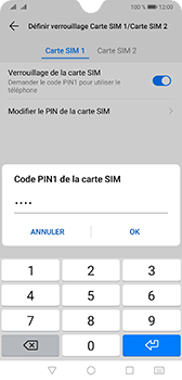 Huawei Mate 20 - Sécurité - modifier SIM PIN - Étape 12