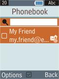 Samsung B2100 Xplorer - E-mail - Sending emails - Step 8