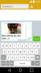 LG Leon - Mensajería - Escribir y enviar un mensaje multimedia - Paso 18