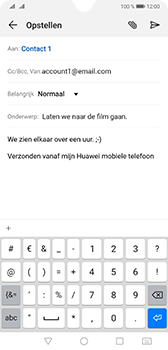Huawei mate-20-dual-sim-hma-l29 - E-mail - Bericht met attachment versturen - Stap 9