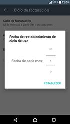 Sony Xperia XA1 - Internet - Ver uso de datos - Paso 7