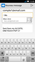 Alcatel OT-7041X Pop C7 - E-mail - Envoi d