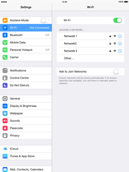 Apple iPad Air iOS 8 - WiFi and Bluetooth - Manual configuration - Step 5