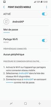 Samsung Galaxy S8 - Internet et connexion - Partager votre connexion en Wi-Fi - Étape 13