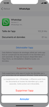 Apple iPhone X - Applications - Supprimer une application - Étape 7