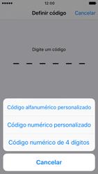Apple iPhone SE iOS 10 - Segurança - Como ativar o código de bloqueio do ecrã -  6