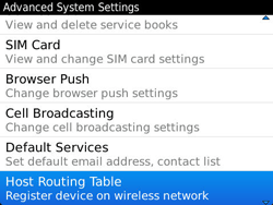BlackBerry 9790 Bold - Settings - Configuration message received - Step 6