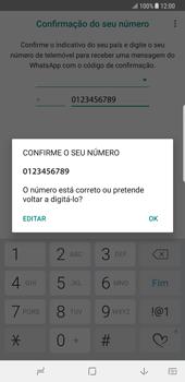 Samsung Galaxy Note 8 - Aplicações - Como configurar o WhatsApp -  10