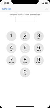 Apple iPhone X - Segurança - Como ativar o código PIN do cartão de telemóvel -  6