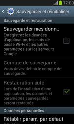 Samsung I8190 Galaxy S III Mini - Device maintenance - Retour aux réglages usine - Étape 6