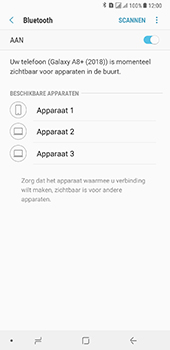 Samsung Galaxy A8 Plus - Bluetooth - headset, carkit verbinding - Stap 7