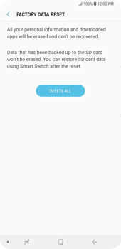 Samsung Galaxy S9 Plus - Device - Reset to factory settings - Step 9