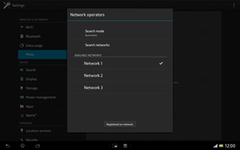 Sony SGP321 Xperia Tablet Z LTE - Network - Usage across the border - Step 10