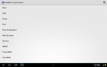 Samsung P5100 Galaxy Tab 2 10-1 - MMS - configuration manuelle - Étape 10