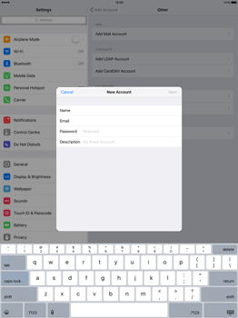 Apple iPad Pro 12.9 (1st gen) - iOS 9 - Email - Manual configuration - Step 8