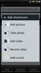 Sony Ericsson Xperia Arc - Email - Sending an email message - Step 9