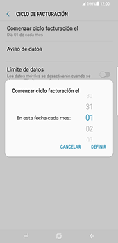 Samsung Galaxy S8 Plus - Internet - Ver uso de datos - Paso 8