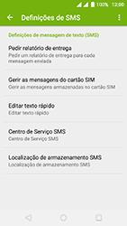 Wiko Fever 4G - SMS - Como configurar o centro de mensagens -  6