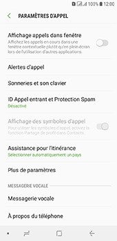 Samsung Galaxy A6 - Messagerie vocale - configuration manuelle - Étape 7