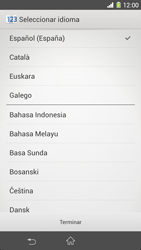 Sony Xperia Z1 - Primeros pasos - Activar el equipo - Paso 3