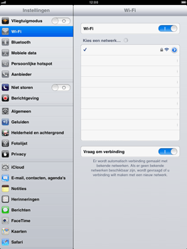 Apple iPad mini - Wifi - handmatig instellen - Stap 7
