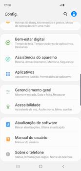 Samsung Galaxy S10 - Funções básicas - Como restaurar as configurações originais do seu aparelho - Etapa 4