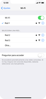 Apple iPhone X - WiFi - Conectarse a una red WiFi - Paso 7